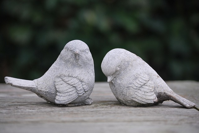 Birds, Image, Garden, Decoration, Sitting