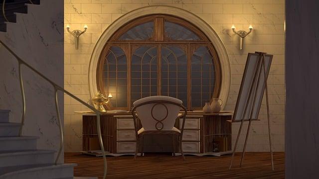 Cgi, The Interior Of The, Art Nouveau, 3d, Imagining
