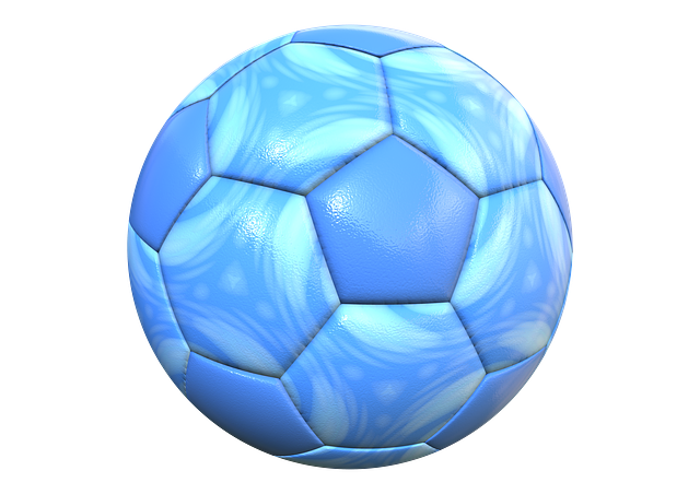 Ball, Football, Sport, Blue, Leather, Imitation Leather