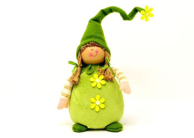 Imp, Spring Imp, Deco, Funny, Dwarf, Green, Sweet