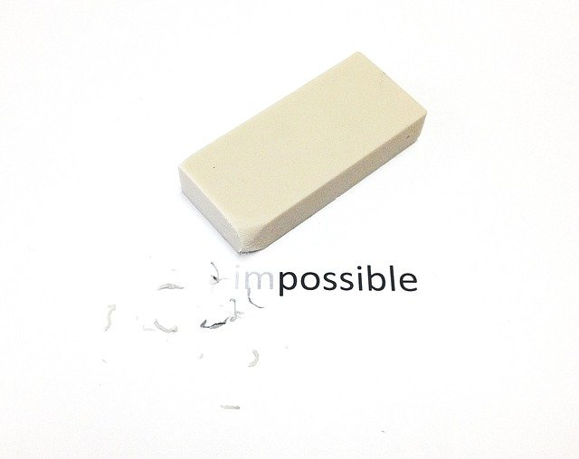 Impossible, Possible, Eraser, White, Crumbs, Motivation