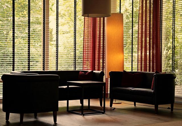Lobby, Lounge, Seat, Lamps, Impression, Window