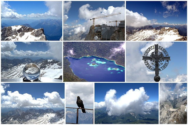 Collage, Zugspitze, Weather Rocks, Impression, Outlook