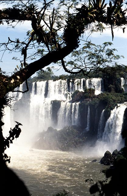 Waterfall, Brazil, Iguazú Waterfalls, Impressive