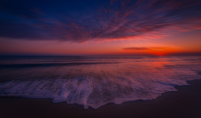 Sunset, Beach, Sea, Ocean, Coast, Bay, In The Evening