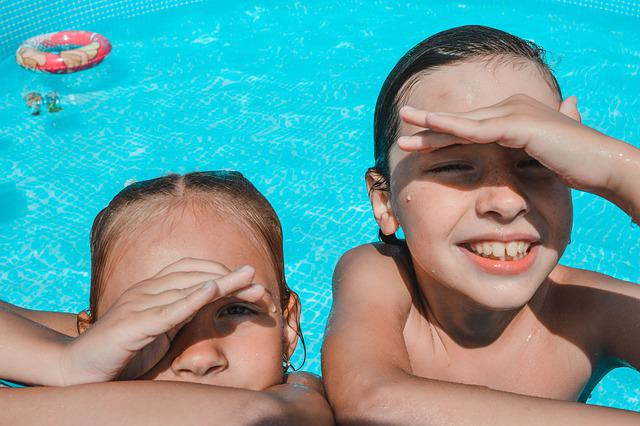 Summer, Kids, Pool, Swim, Vacation, In The Summer Of
