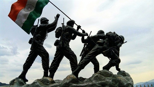 free photo independence dag statue indian army indian flag max pixel