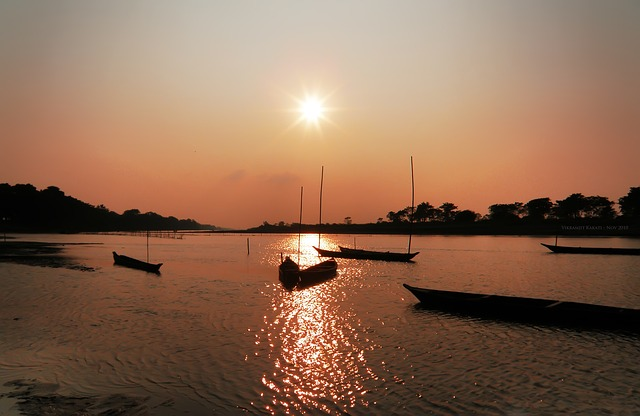 Sunset, Landscape, Assam, India, Landscapes, Natural