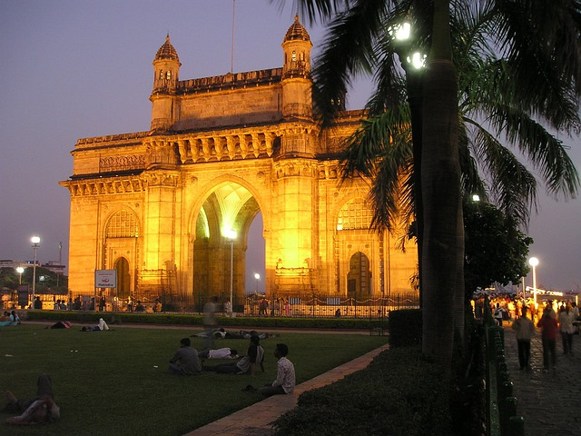 India, Mumbai, Bombay, Goal, Building, Night Photograph