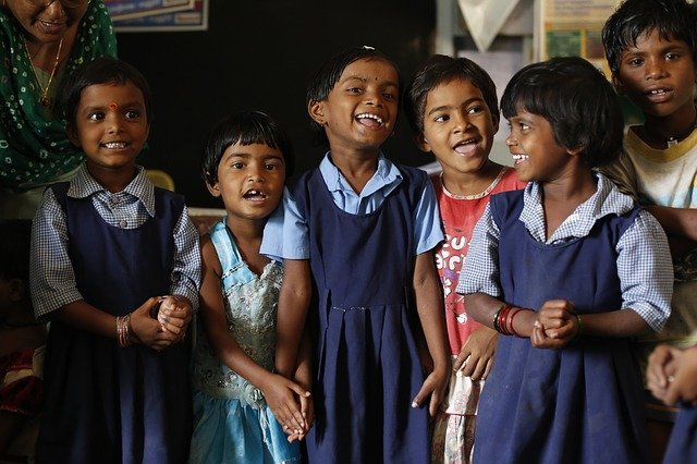 Children, India, Education, Classroom, Happy, Smile