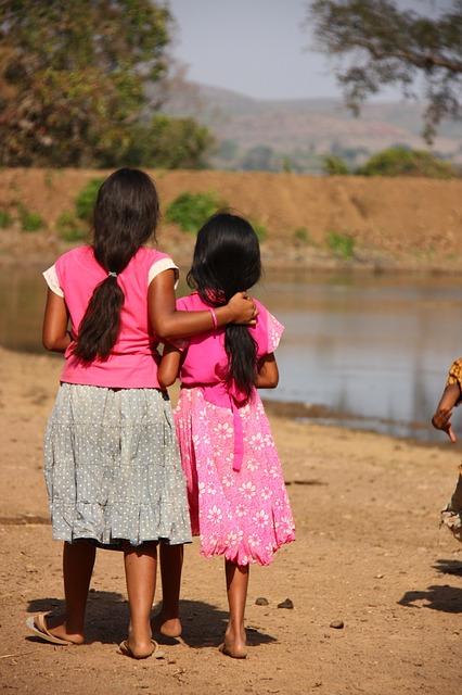 India, Karnataka, Girl, Village, Long Hair