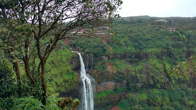 Panchgani, India, Waterfall, Lingmala Waterfall
