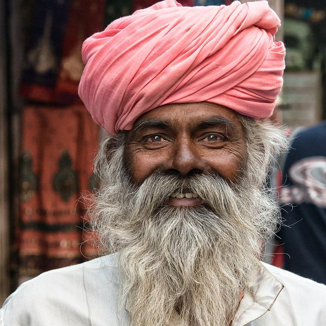 Man, India, Hindu, Portrait, Hinduism, Bearded, Beard