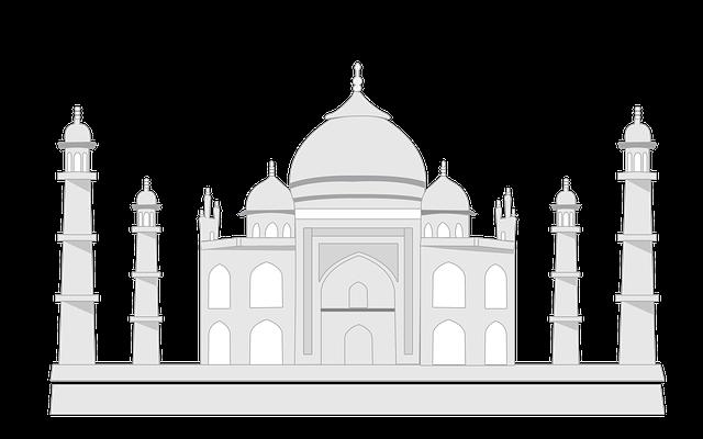 Tajmahal, Taj, India, Tajmahal Sketch, Mahal