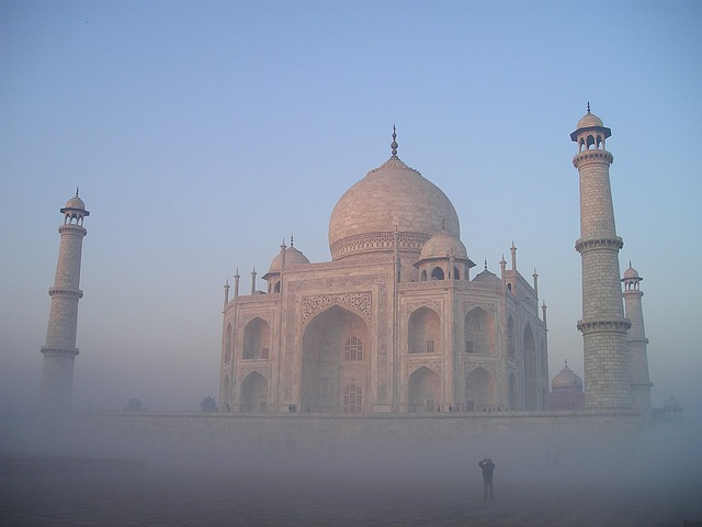 India, Taj, Mahal, Agra, Temple, Tomb, Grave, Fog