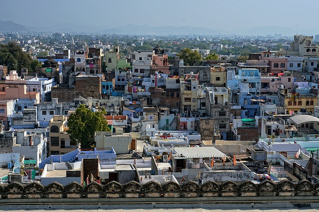City, Udaipur, India, Urban Landscape, Homes