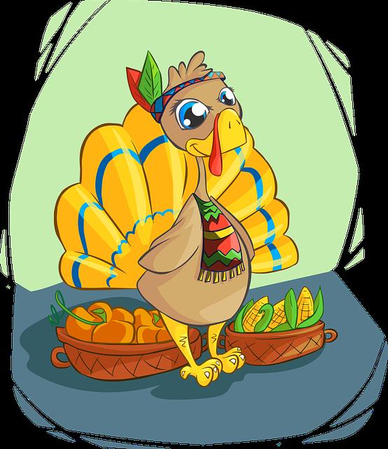 Turkey, Indian, Corn, Apples, Cute, Smile, Color