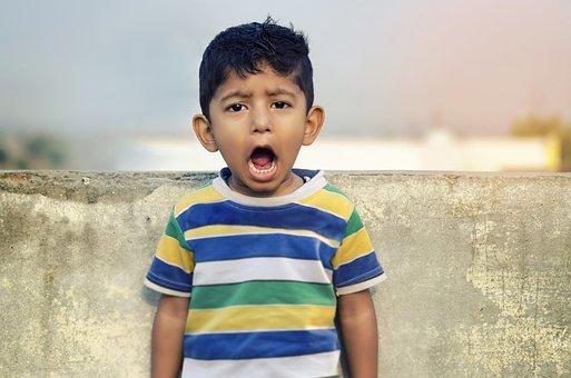 Boy, Child, Shouting, Shout, Loud, Open Mouth, Indian