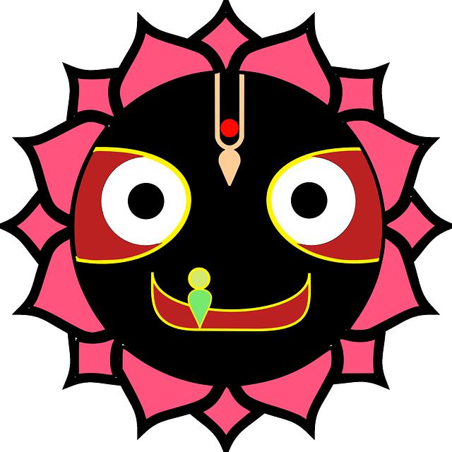 Juggernaut, God, Krishna, Mask, Indian