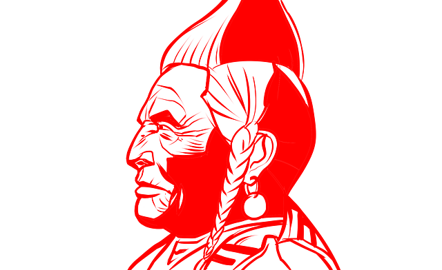 Native-america, Indian, Shot In Hand, Icon, Drawing