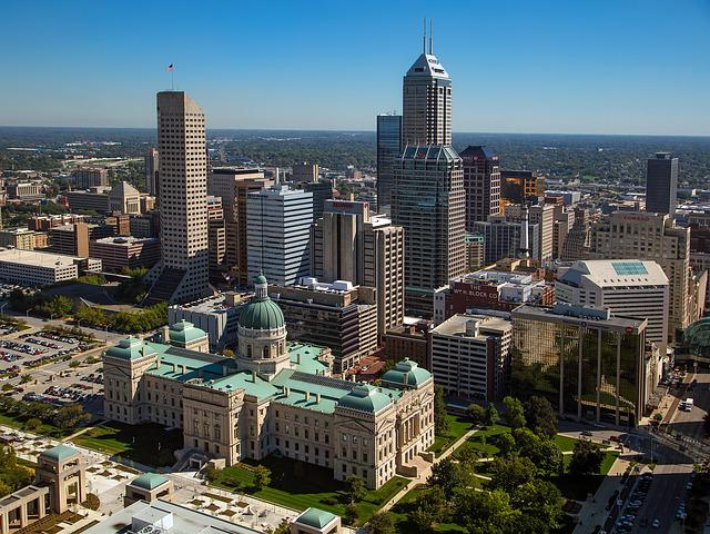 Indianapolis, Indiana, City, Urban, Cityscape, Skyline