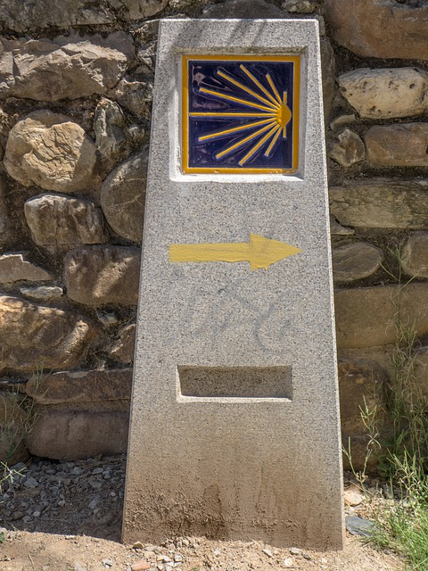 Camino Santiago, Path, Milestone, Follow, Indication