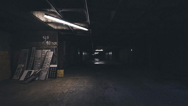 Abandoned, Alley, Building, Dark, Empty, Indoors, Light