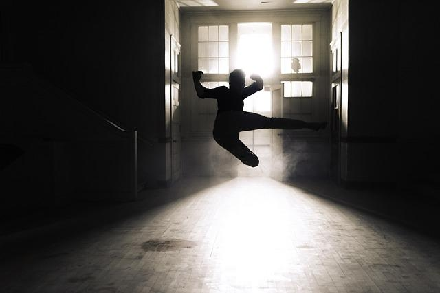 Action, Art, Backlit, Doors, Indoors, Kicking, Motion