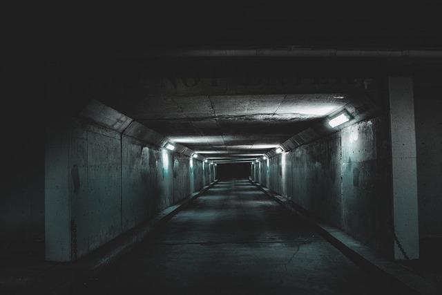 Tunnel, Subway System, Indoors, Empty, Dark