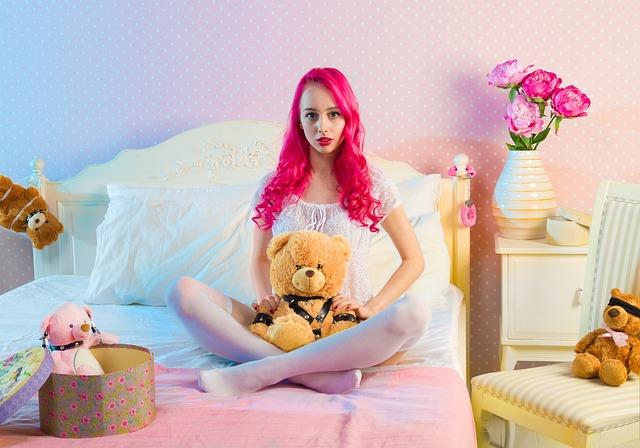Bed, Bedroom, Cute, Fun, Girl, Indoors, Room
