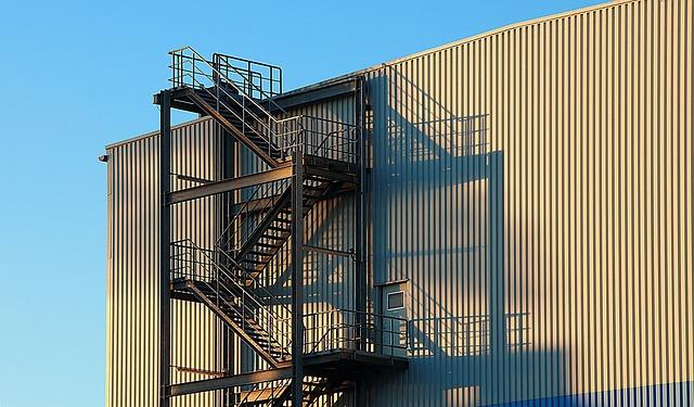 Industry, Industrial Building, Factory, Building