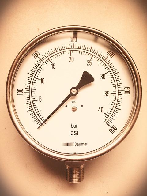 Pressure Gauge, Industrial, Clock, Engineering