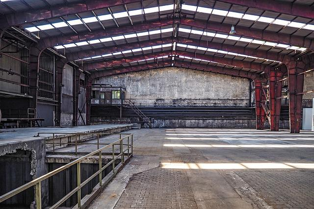 Hall, Factory Building, Industrial Hall, Old, Building
