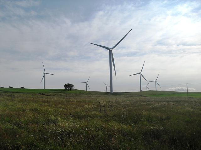 Wind Turbine, Landscape, Industrial, Wind Farm