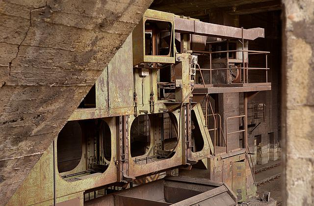 Old, Architecture, Leave, Industry, Steel, Tube