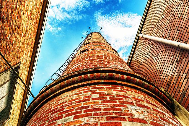 Chimney, Industry, Brick, Pollution, Architecture