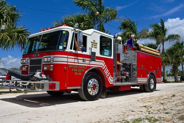 Fire Truck, Emergency, Industry, Road