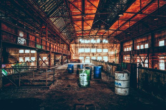 Factory, Industry, Pollution, Past, Industrial Plant