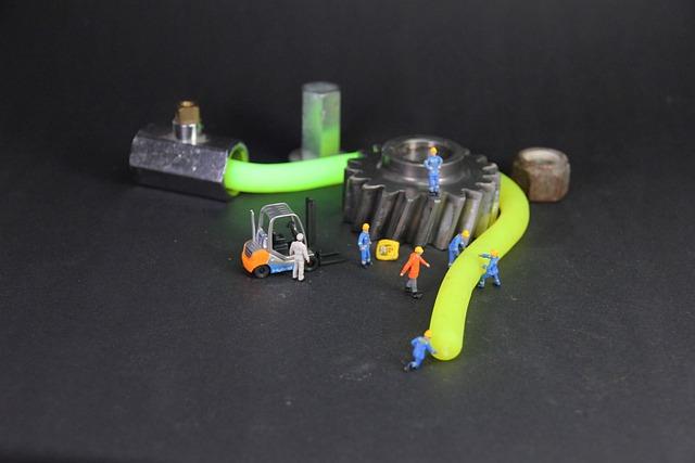 Industry, Neon Yellow, Miniature Figures, Mechanics