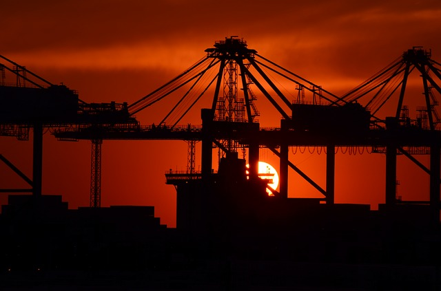 Industry, Sunset, Port Facility, Mood, Sky Color