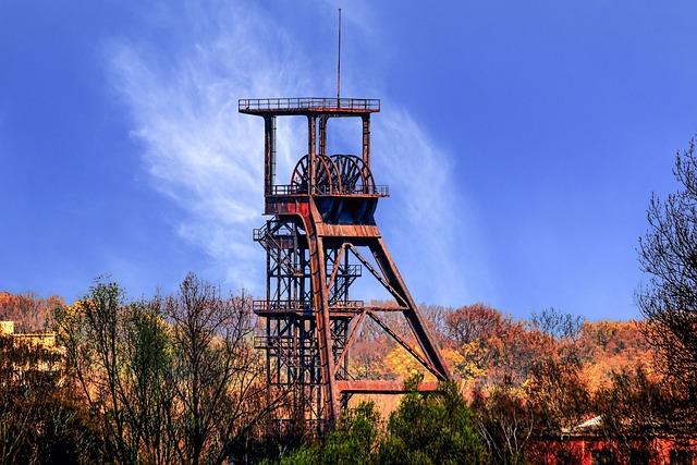 Sky, Industry, Steel, Headframe, Ruhr Area, Bill