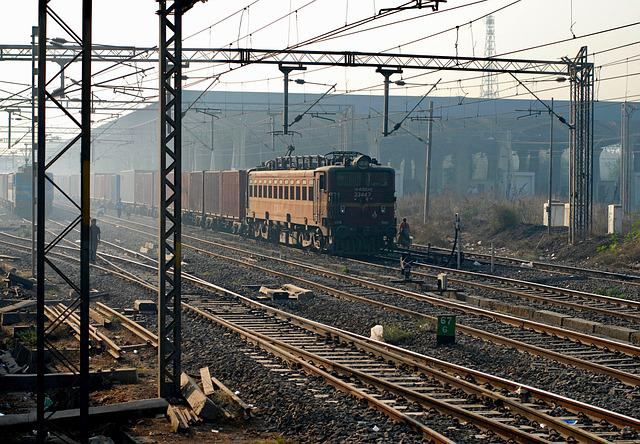 Train, Railway, Traffic, Industry, Power Cable, Station
