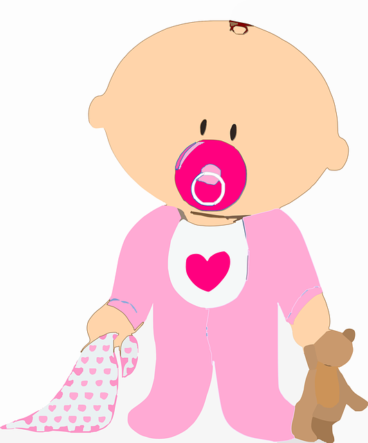 Baby, Infant, Toddler, Pacifier, Dummy, Pink
