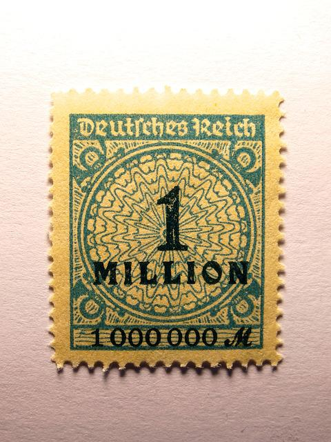 Stamp, German Empire, Inflation, A Million, Germany