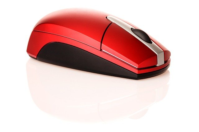 Mouse, Red, Computer, Information, Icon, Form, Glassy