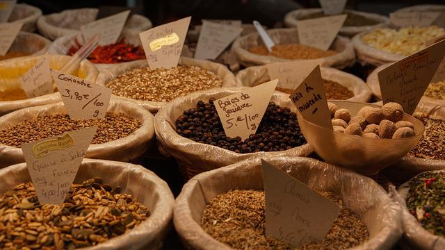 Spices, Market, Food, Ingredient, Stall, Nutmeg