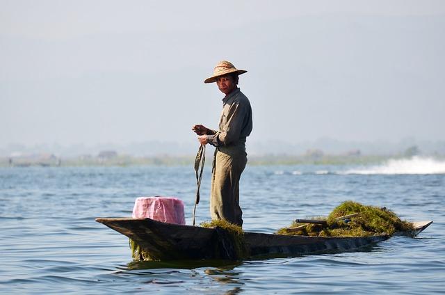 Fischer, Inlesee, Inle Lake, Lake Inle, Bamboo Basket