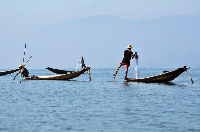 Inlelake, Inle Lake, Single-leg-rowers, Myanmar