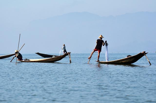 Inlelake, Inle Lake, Single-leg-rowers, Myanmar