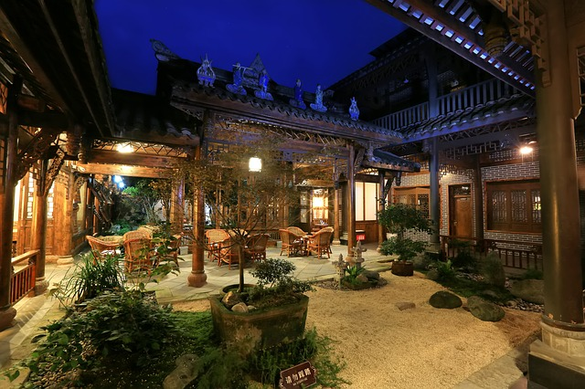 free photo inn chinese style the ancient town courtyard